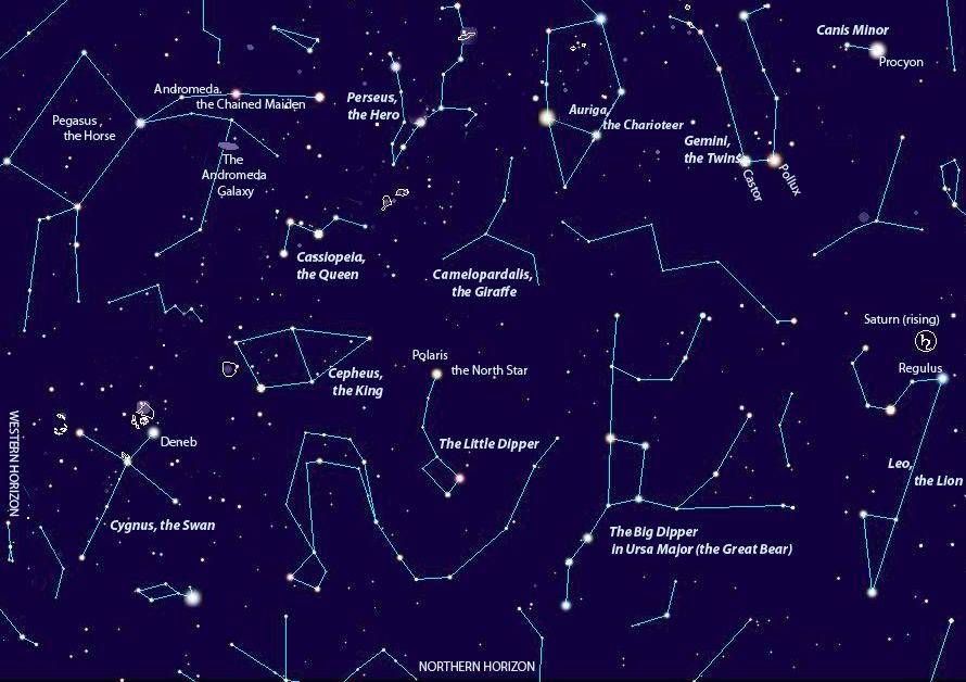 Night Sky Chart By Theewriter Click On The Image To Get A Larger Version