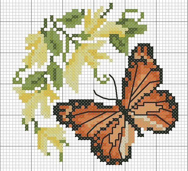Pin de Vera en keresztszemes | Pinterest | Mariposa monarca ...