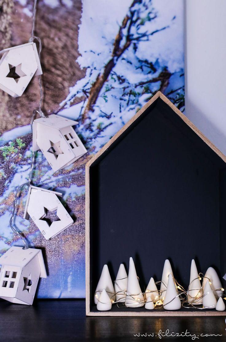 DIY Weihnachtsdeko & Geschenkidee: Leuchtender Winterwald aus Kaltporzellan | Filizity.com | DIY-Blog aus dem Rheinland