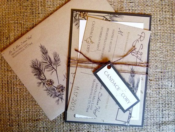 Wedding Invitation  Rustic Elegance Recycled Paper by PrintDoodles, $6.00 Love These:)