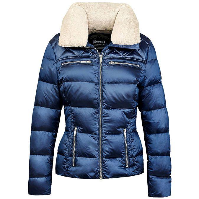 Cavallo Donatella Ladies Down Jacket - Metallic Blue   Autumn ...