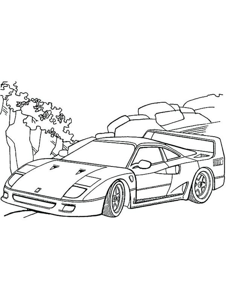Ferrari F40 Coloring Page Ferrari Is One Of The Manufacturers Of Supercar Cars Originating From I In 2020 Cars Coloring Pages Race Car Coloring Pages Cool Sports Cars