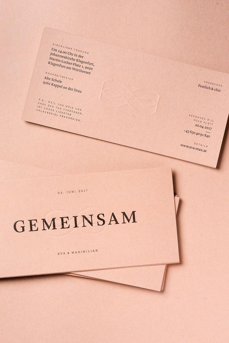 Wedding invitation / Gemeinsam on Behance | Design | Pinterest ...