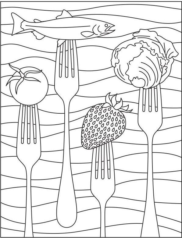 Printable Coloring Page For National Nutrition Month National
