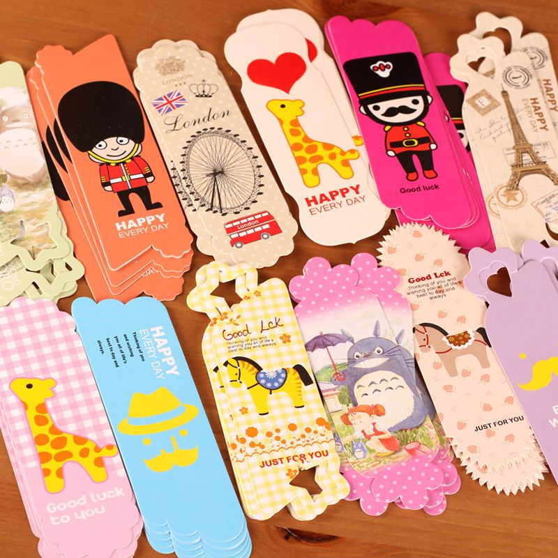 stationery cartoon multicolour bookmarks card beautiful bookmark