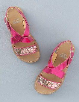 Hot Pink Metallic Glitter Sandals Boden Family Little
