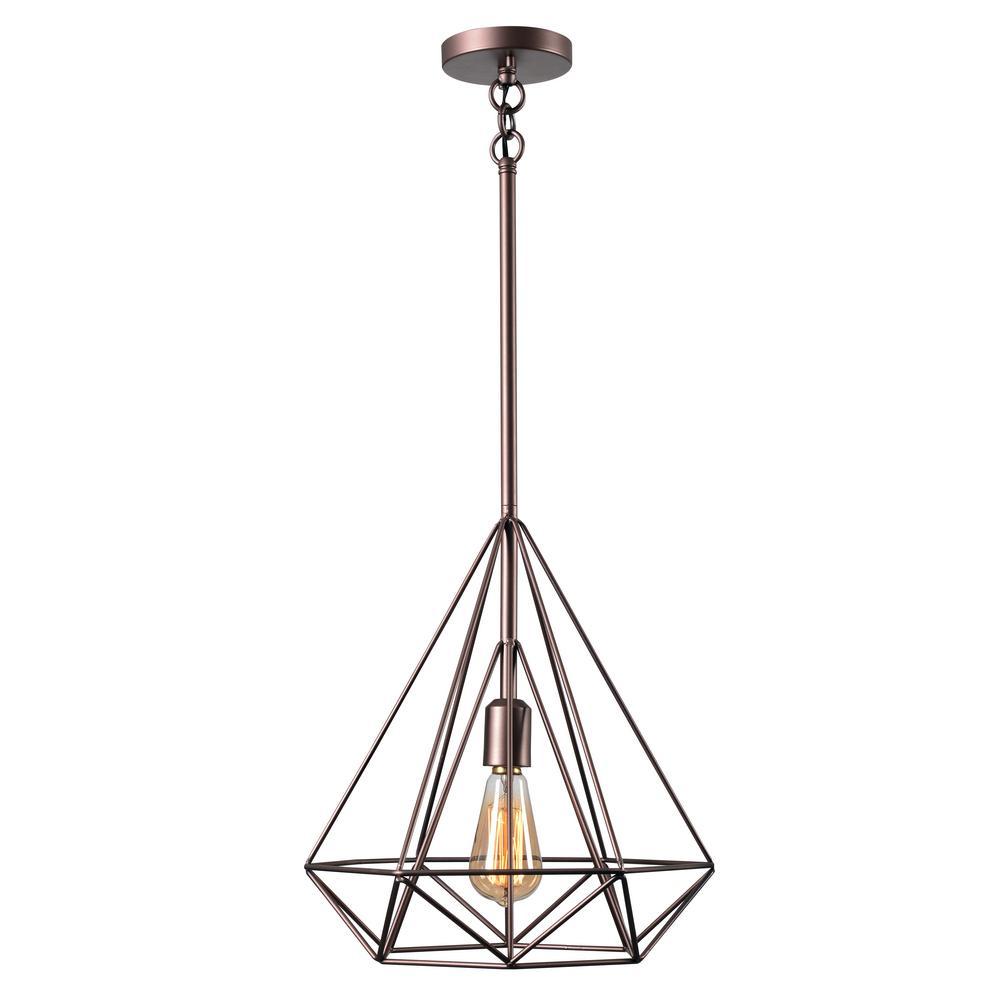 Kenroy Home Pyramid 1-Light Vintage Copper Pendant | Rylie | Pinterest