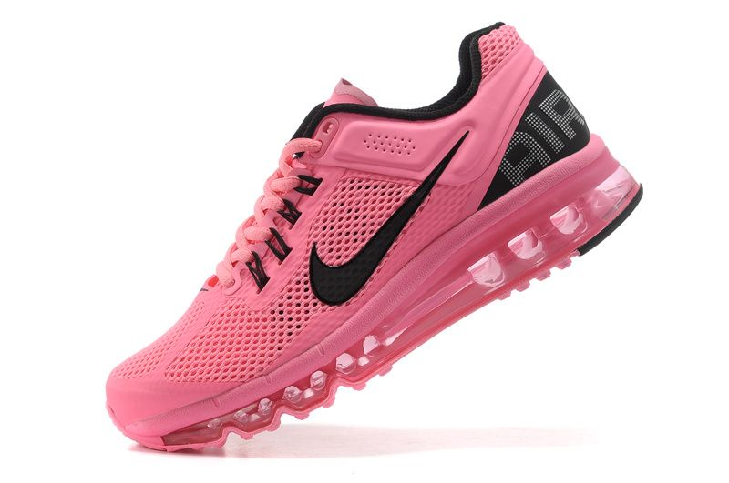 cheap for discount dec22 ce3ef ... Pink Nike Shoes for Women Womens Nike Air Max 2013 Mesh Pink Black  Running Shoes ...