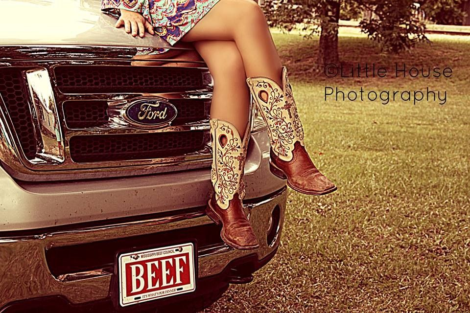 Senior girl cowboy boots and pickup truck | Country Strong | Pinterest
