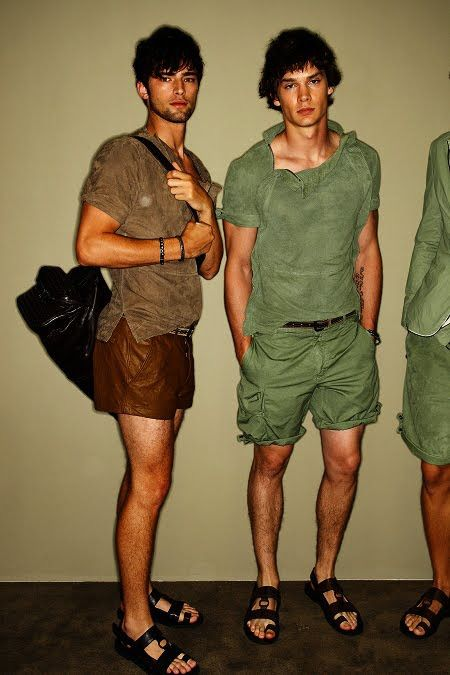 00f33772820c Leather shorts  so happy to finally see men getting in on this trend ...