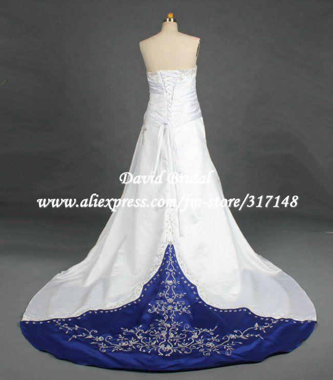 royalblueandblackwedding dr045 a line white wedding dresseswedding