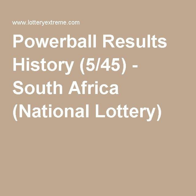 powerball results history