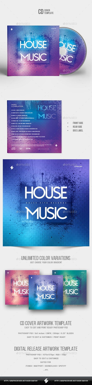 House Music Cd Cover Artwork Template Cd Dvd Album Cover Artwork