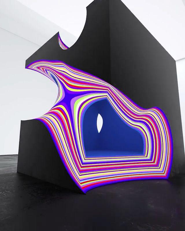 Maxim Zhestkov Layers 2018 Video Interactive Art Generative Art Installation Art
