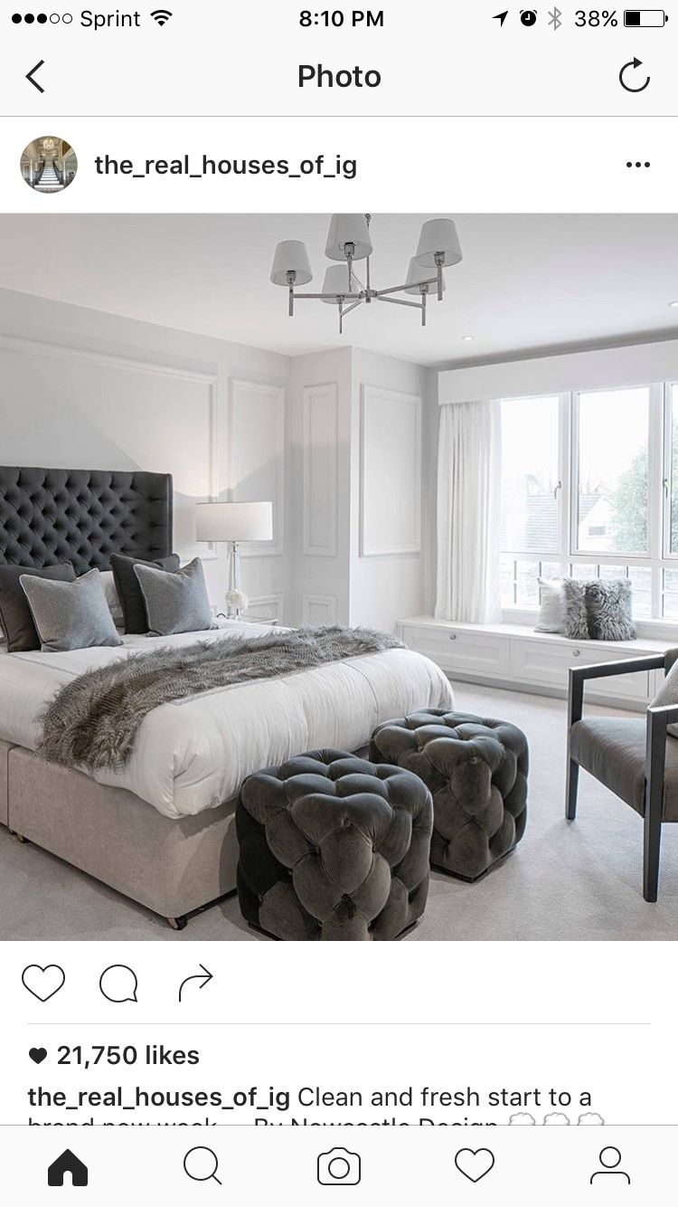 Master bedroom grey  Pin by Andrea Aeling on Home  Pinterest
