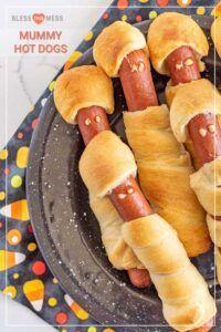 Halloween Hot Dog Mummies | Easy Halloween Party Food