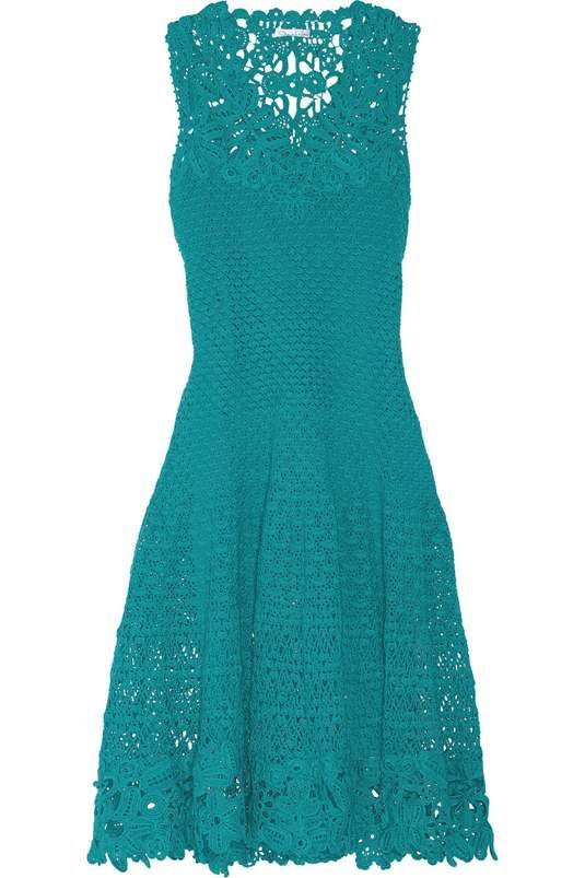 Love the Oscar De La Renta Crocheted cotton dress on Wantering.