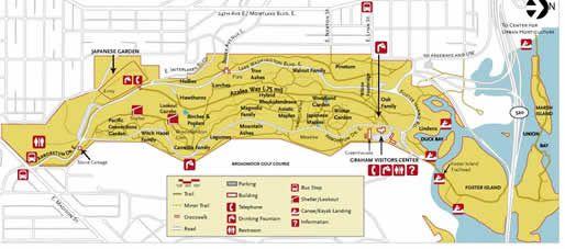 Washington Park Arboretum trail map Seattle Pinterest Trail