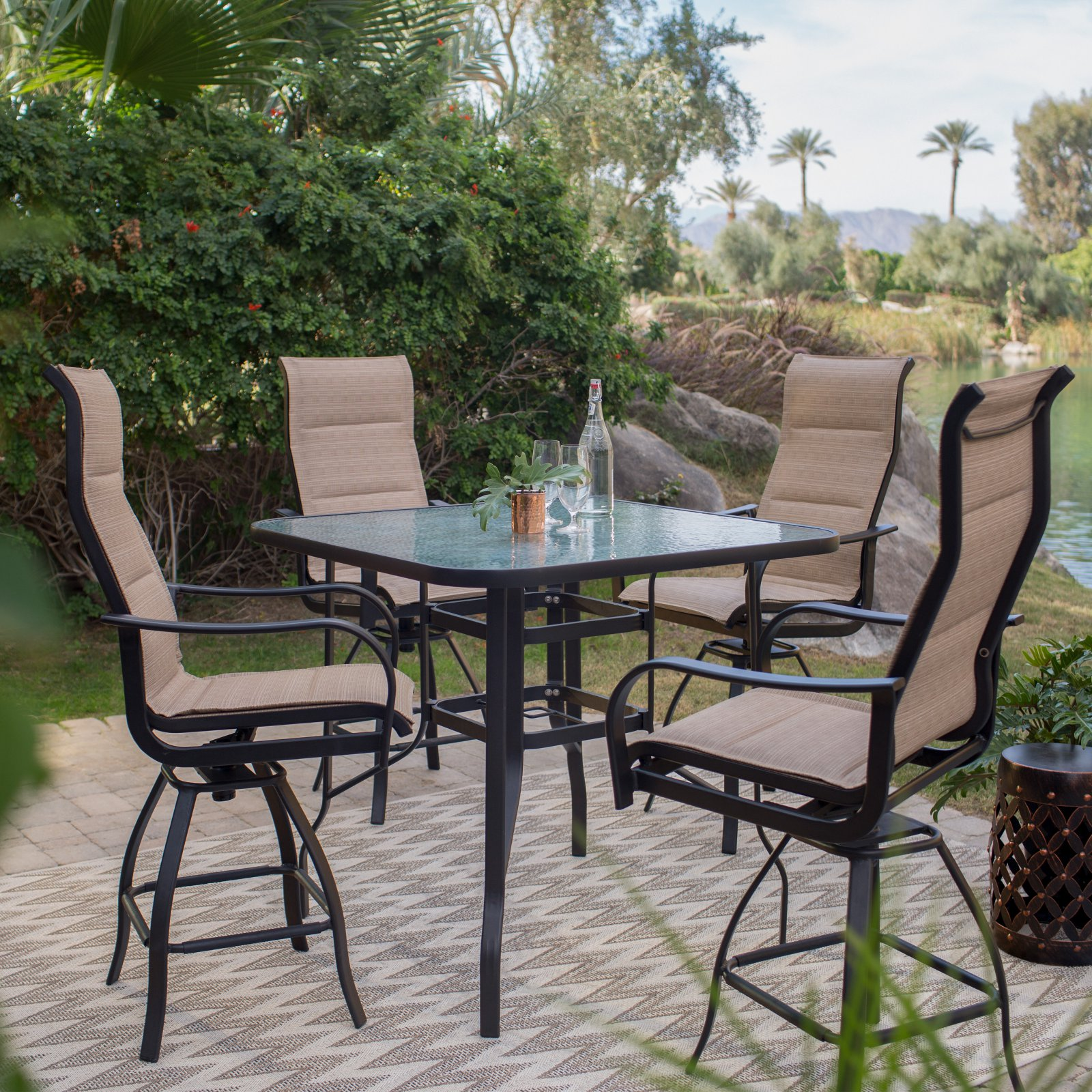 palm harbor 5 piece wicker patio dining furniture set outdoor rh fi pinterest com