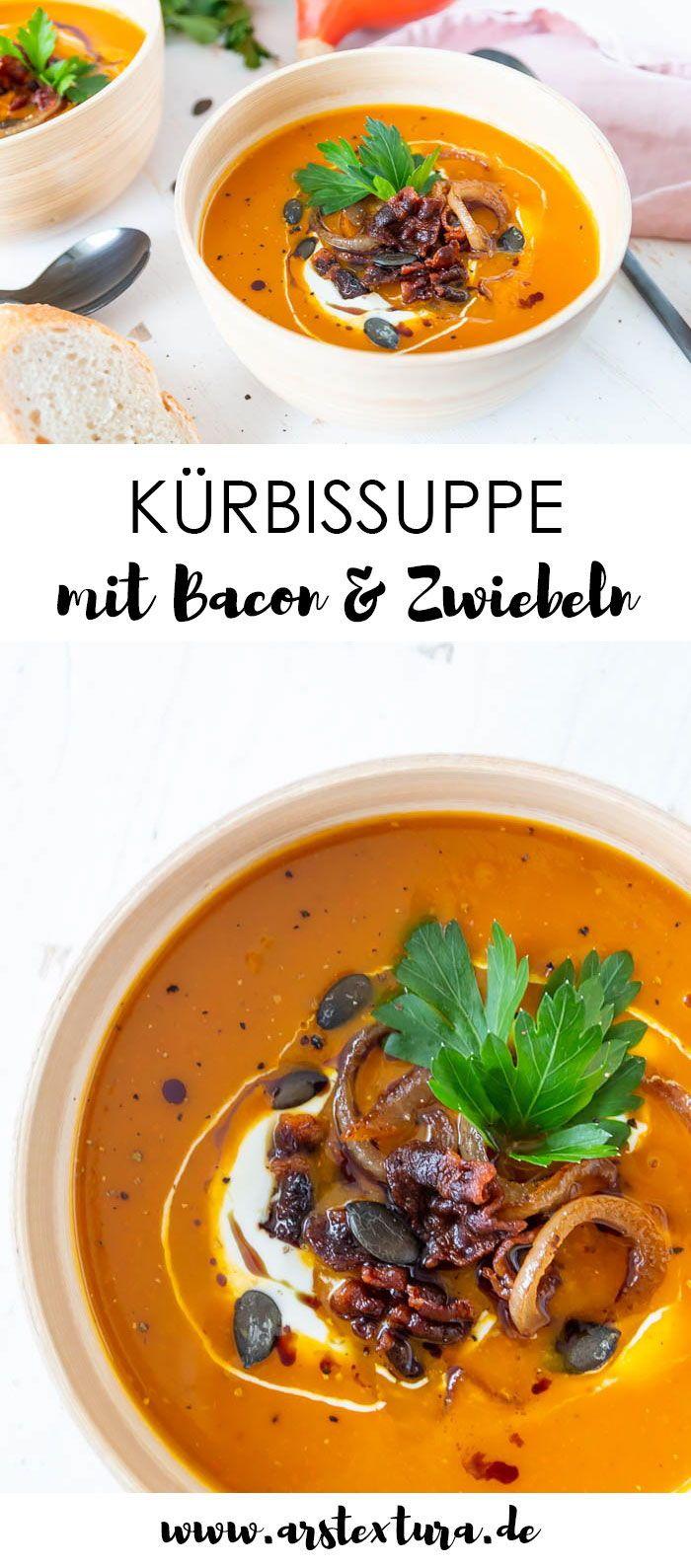 Kürbissuppe mit Bacon und Zwiebeln | ars textura – DIY-Blog