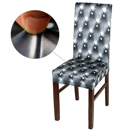 3d pattern spandex stretch short chair seat covers dining chair rh in pinterest com