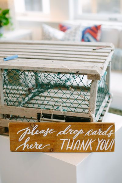 25 Ways to Get Nautical at Your Wedding | Lobster trap, Themed ...