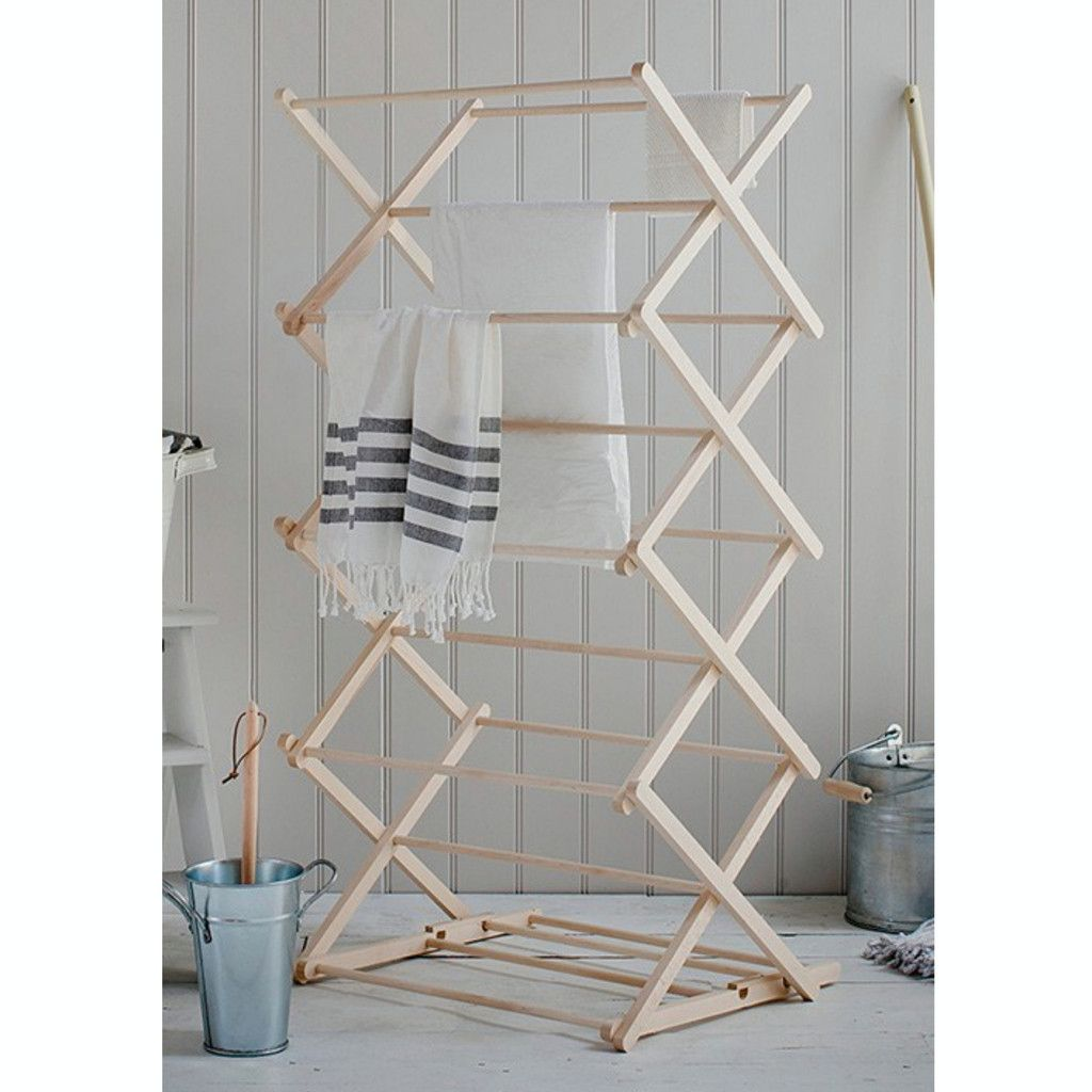Folding Wooden Clothes Horse Let Liv Clothes Drying Racks Folding Clothes Room