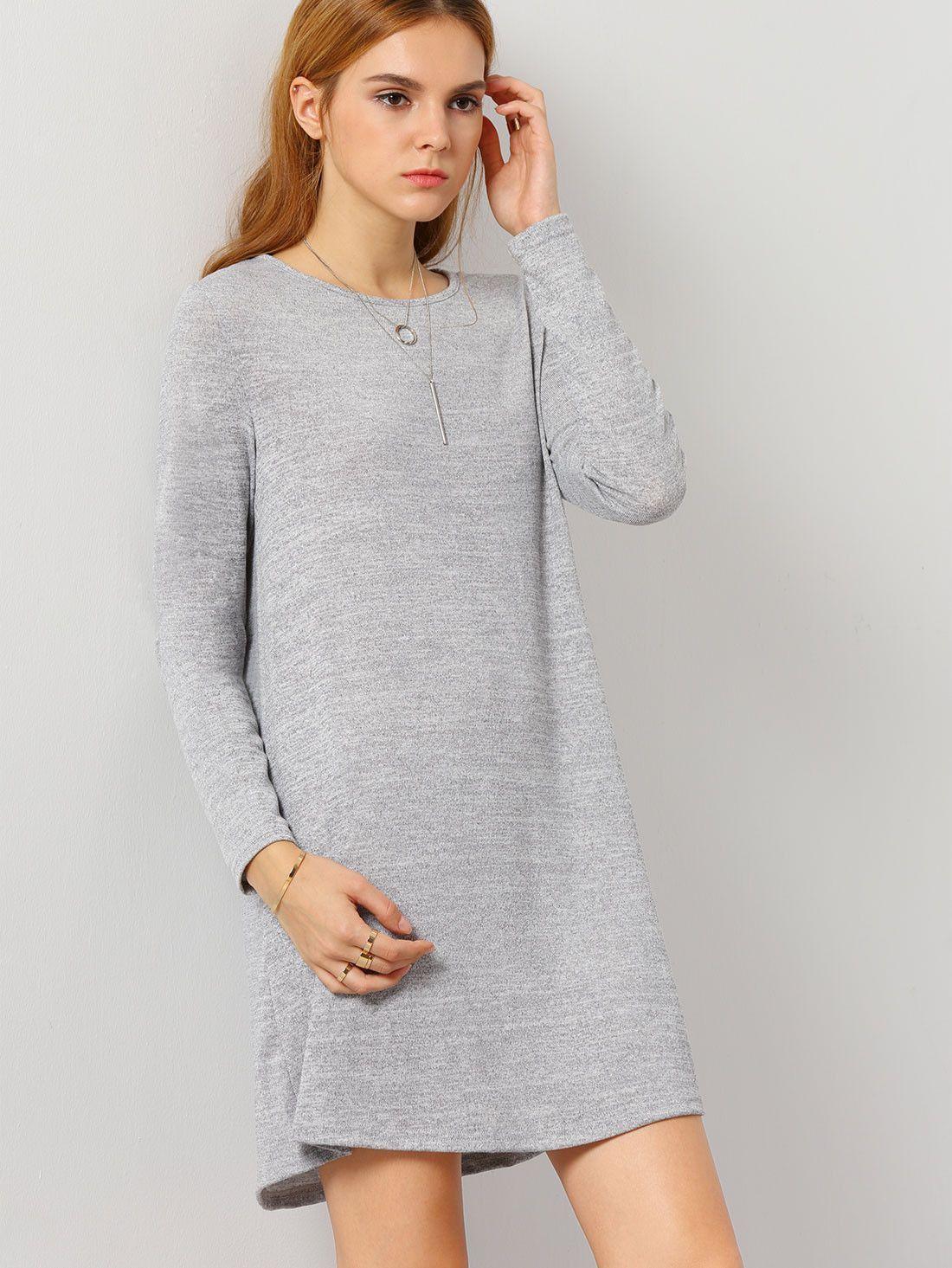 Grey long sleeve casual dress my style pinterest gray gray