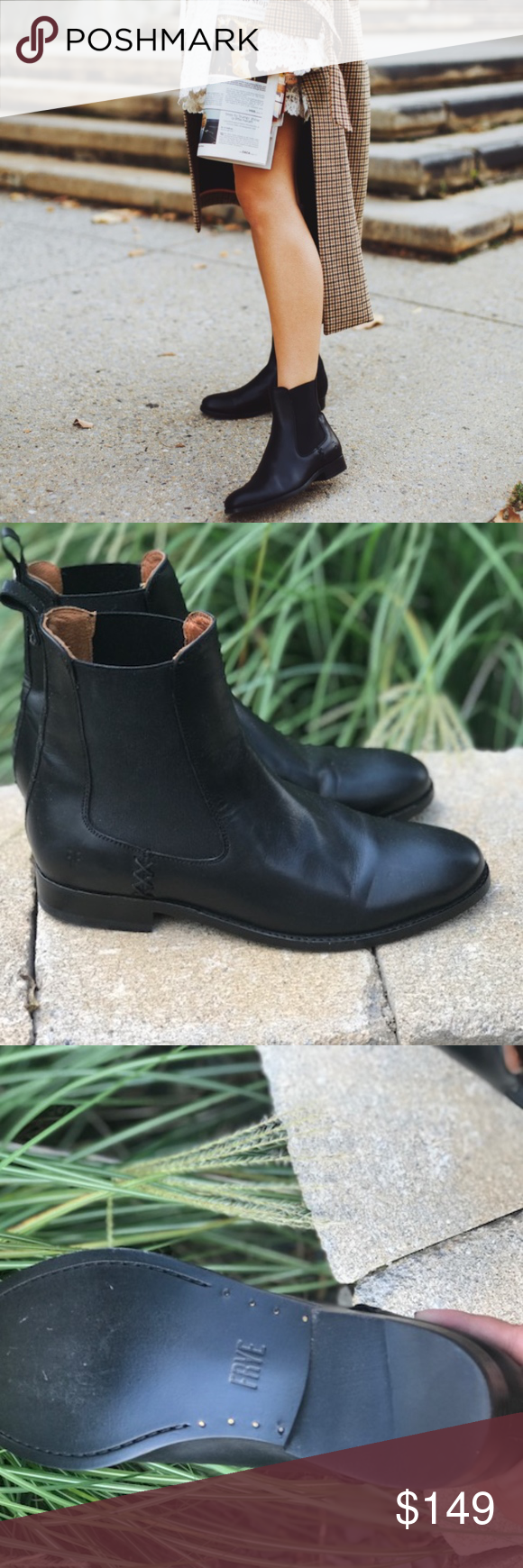a49357f65f1 Frye melissa chelsea ankle boots new no box Measurements: Heel ...