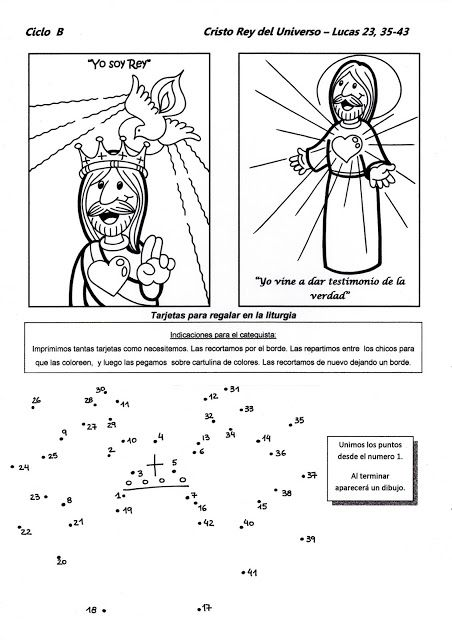Cristo Rey Del Universo Ciclo B Temas De Catequesis Catequesis Universo Dibujo