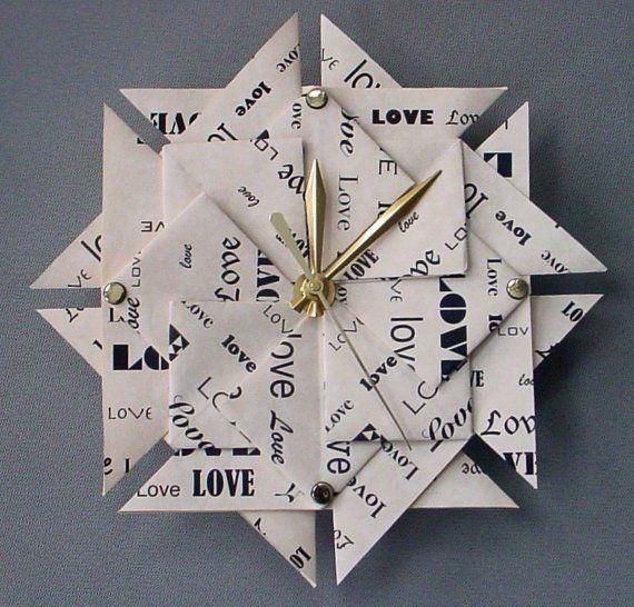 Memorable 1st Anniversary Gift Love Origami Clock Paper Etsy 1st Wedding Anniversary Gift 1st Anniversary Gifts Anniversary Gifts