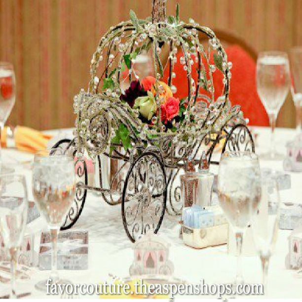 """Fairy Tale Wedding Theme """"Enchanted Carriage"""" Favor Boxes"""