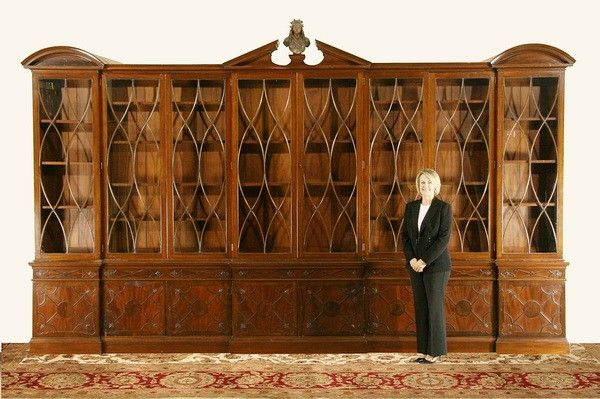 this 19th century english chippendale bookcase 120x191x18 should rh pinterest com