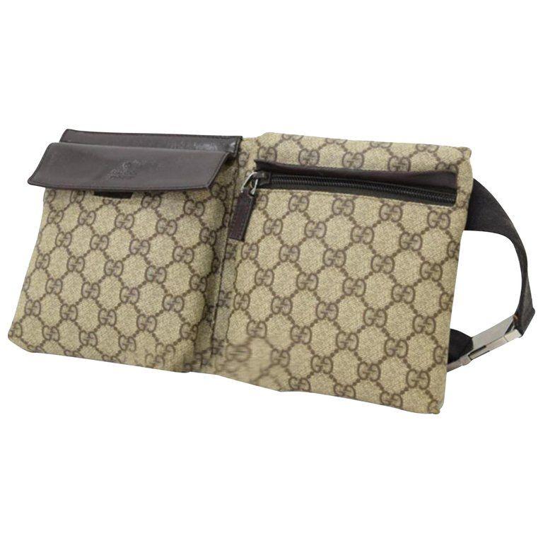 d5fe0cf8e217 Gucci Monogram Gg Supreme Fanny Pack Waist Pouch 228795 Cross Body Bag