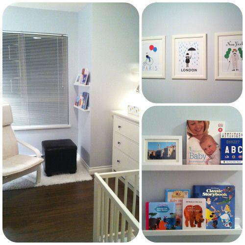 travel-themed IKEA nursery