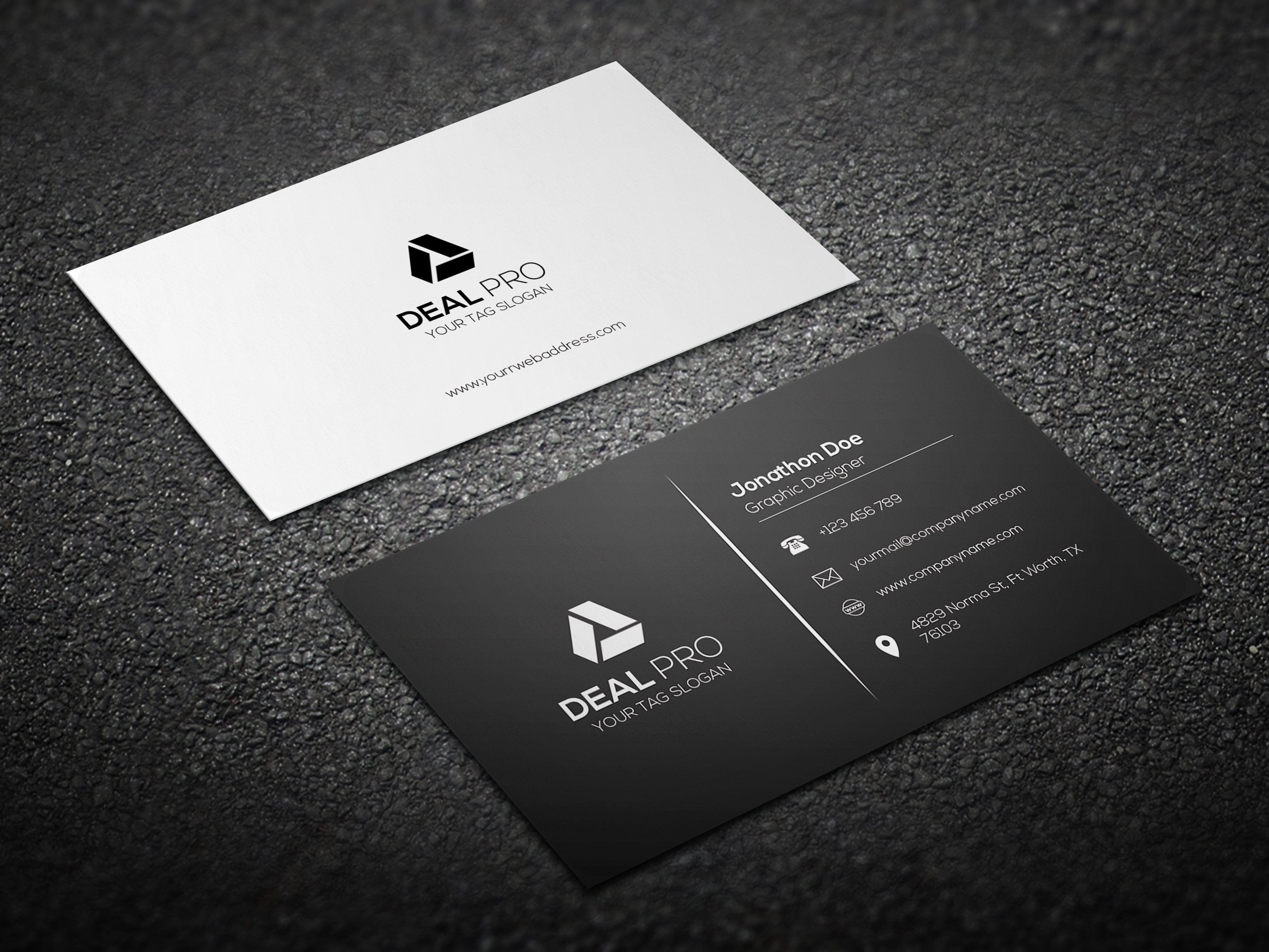 Simple Business Card Template Business Cards Creative Templates