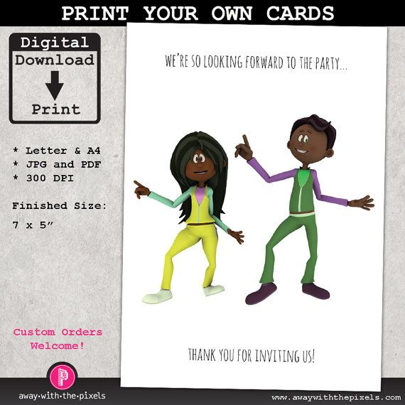WeRe Looking Forward To Your Party Funny Printable Party Card