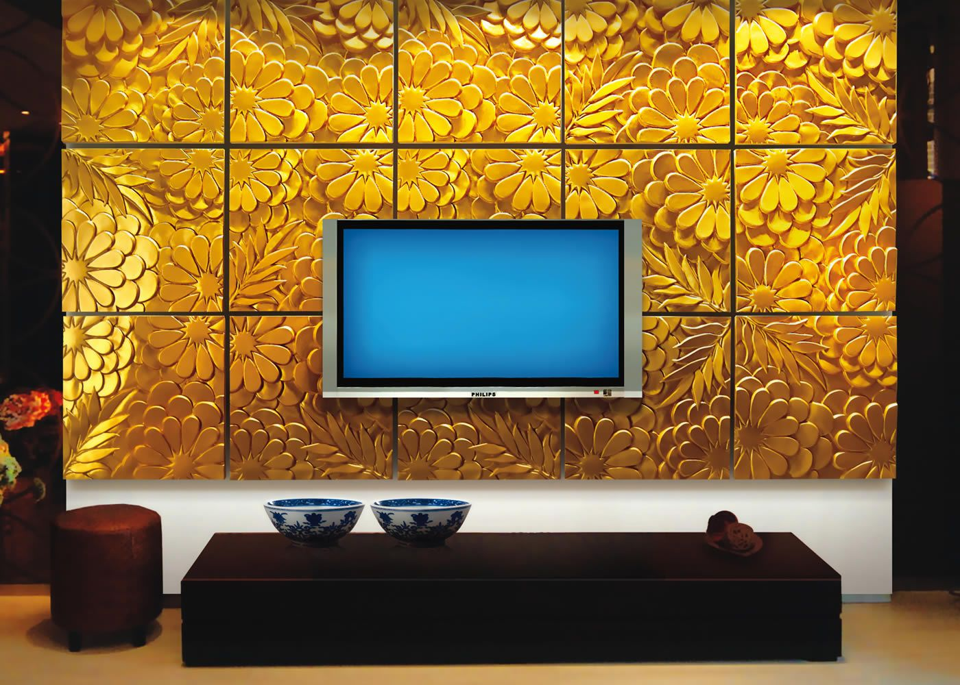 Tv Panel Kaufen Newdecor P U 3d Wall Art Commercial Gallery Wall