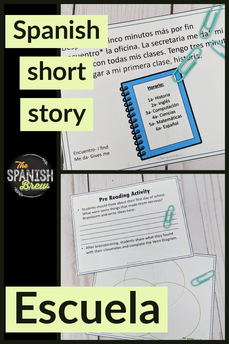 Tprs Spanish Short Story About School Using High Frequency Verbs Covid19wl Spanish Students Spanish Reading Comprehension School [ 1102 x 735 Pixel ]