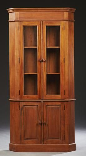 Beau American Style Carved Mahogany Corner Cabinet, 20t More