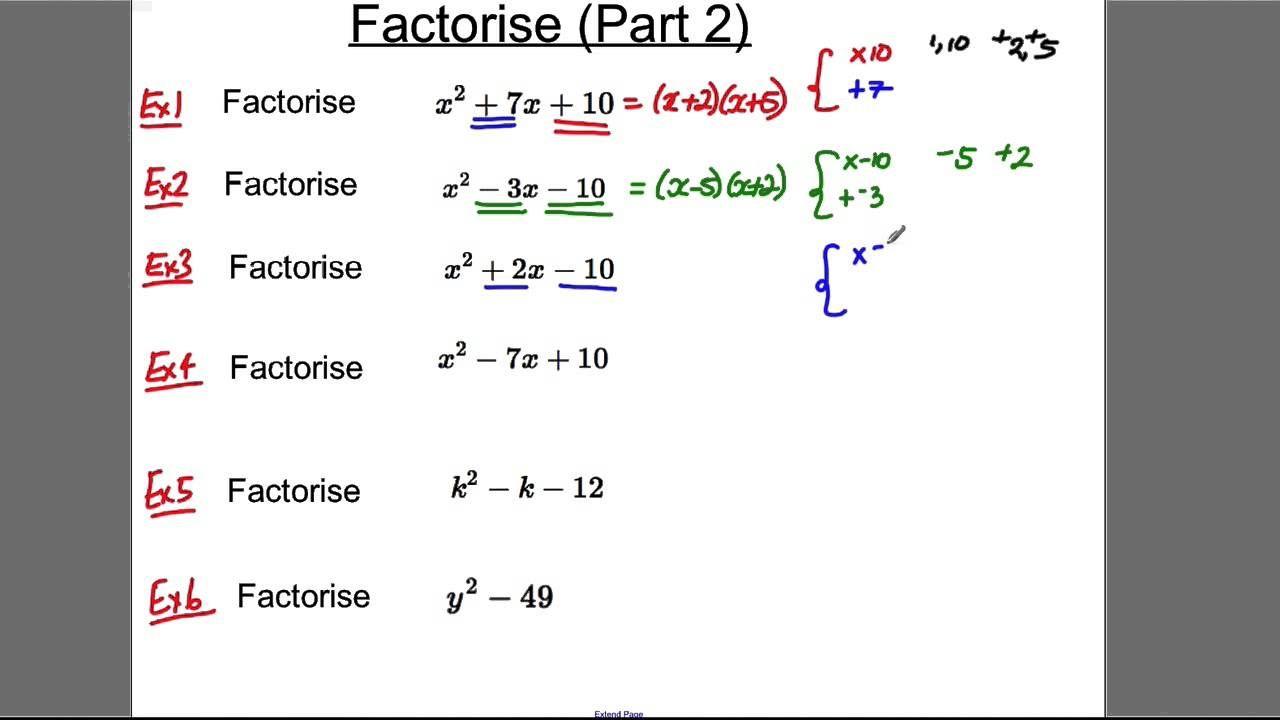Gcse Revision Video 7 Factorise 2 Gcse Revision Gcse Math Gcse [ 720 x 1280 Pixel ]