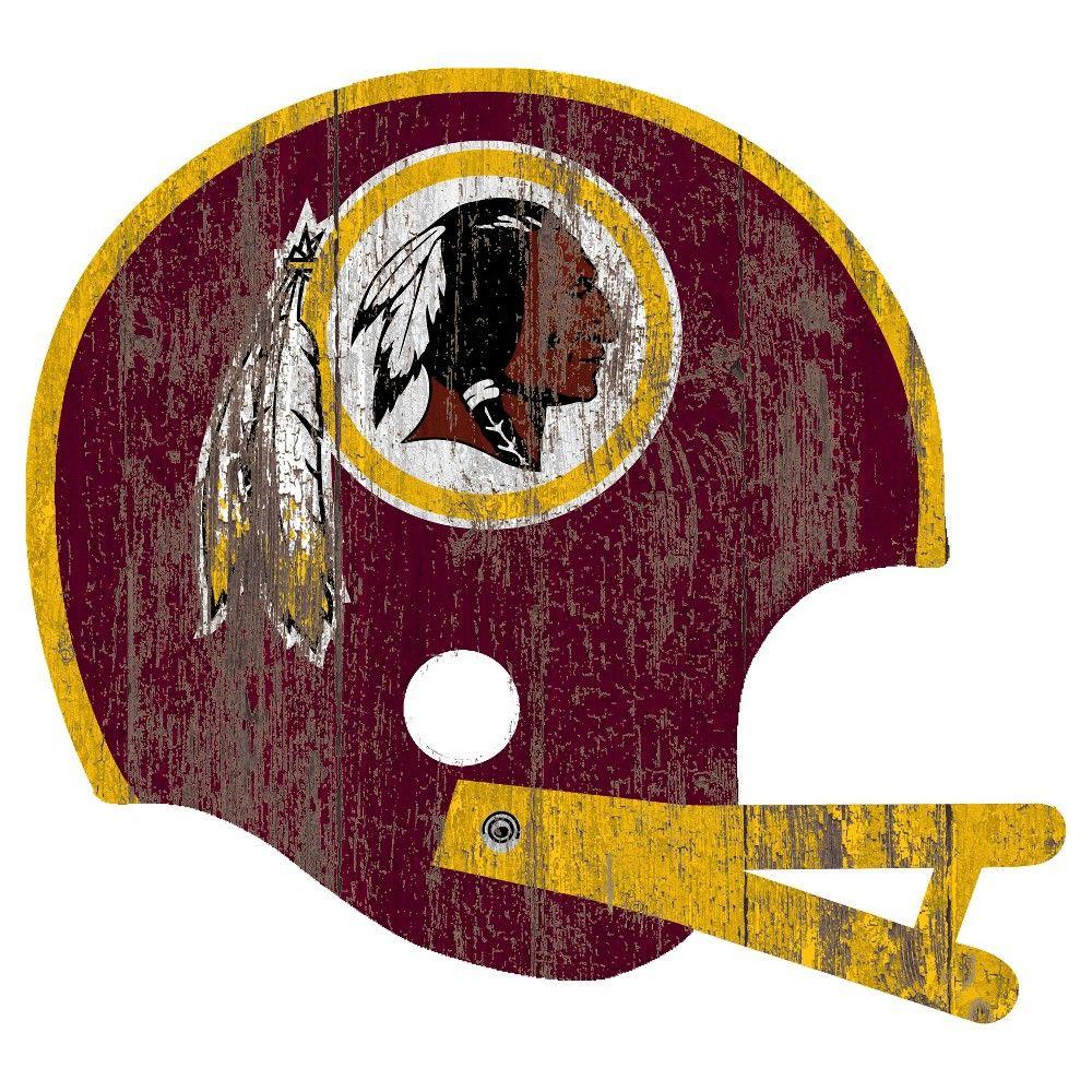 NFL Washington Redskins Distressed Helmet Cutout Sign 3ff6b90fd