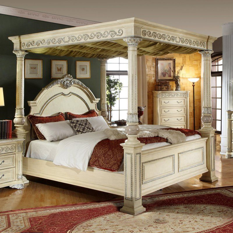 meridian sienna canopy bed size queen sienna post q products rh pinterest com
