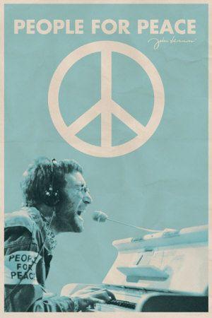 John Lennon - People for Peace Affiche