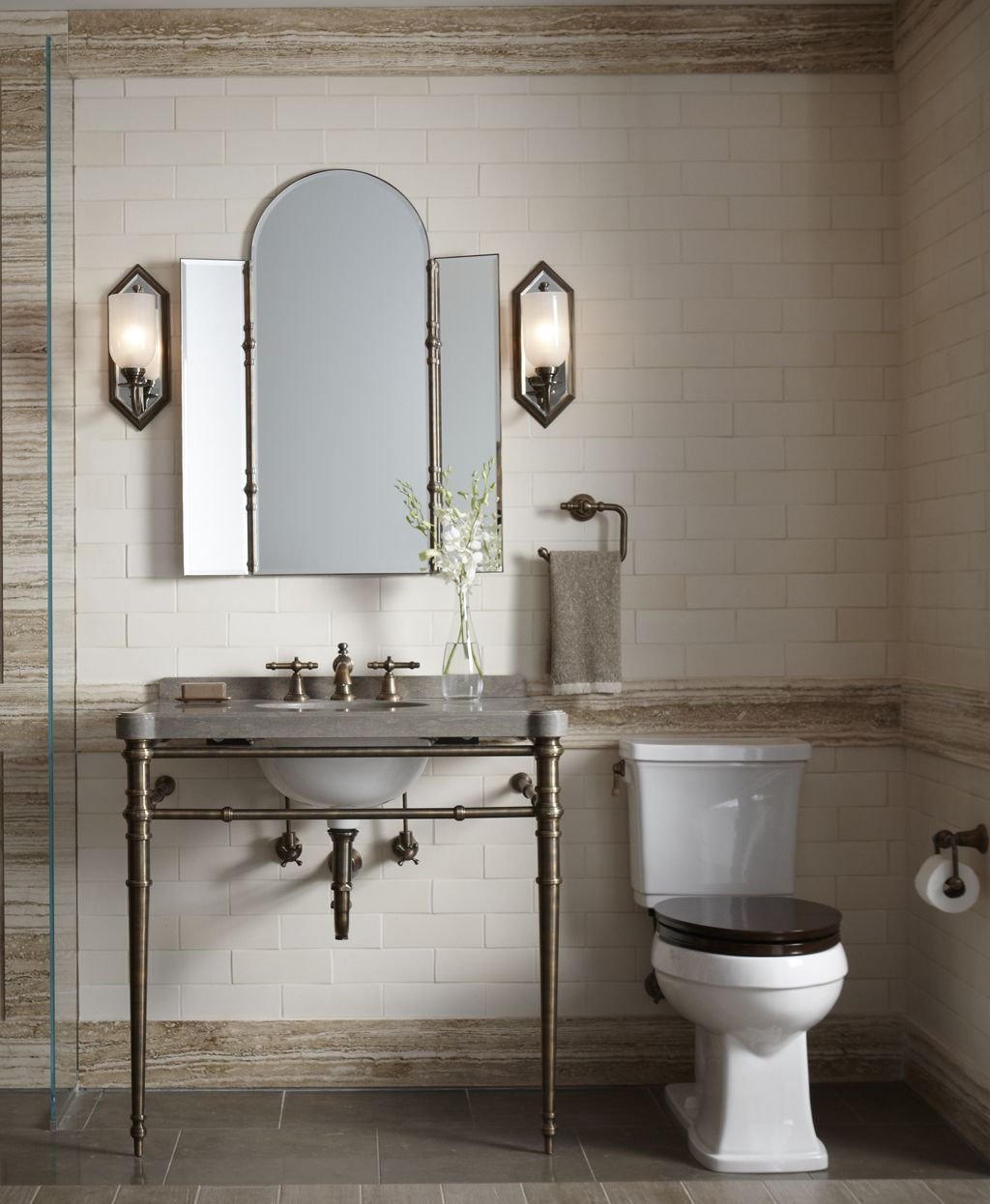 Room Ann Sacks Tile bathroom