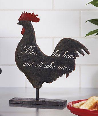 sentiment rooster sculptures for the home rooster kitchen decor rh pinterest com