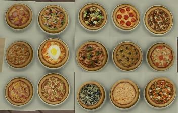 Mod The Sims - 15 mini pizzas for restaurants (and home) Custom food. Update 7-2-2017-Toddlers-vampires patch update