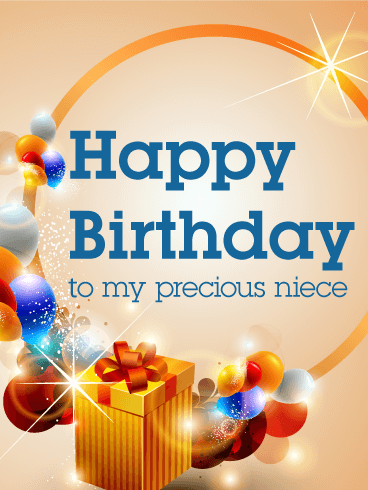 Make Your Niece S Day Sparkle With This Beautiful Birthday Card