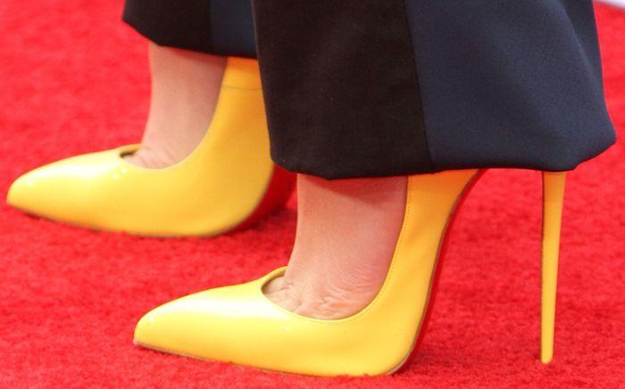 christian louboutin hot chick yellow