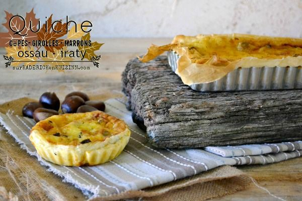 recette quiche quiche c pes girolles marrons et ossau. Black Bedroom Furniture Sets. Home Design Ideas